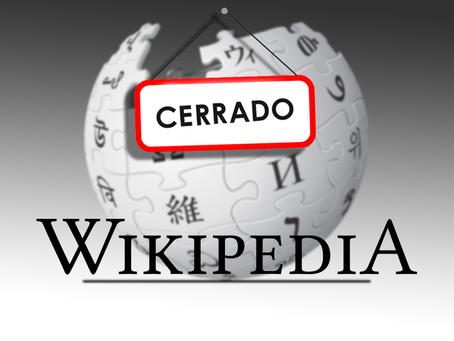 Wikipedia entró en huelga