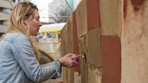 Atelier - Fresque en terre