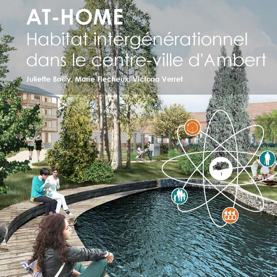 AT-HOME Habitat intergénérationnel dans le centre ville d'Ambert
