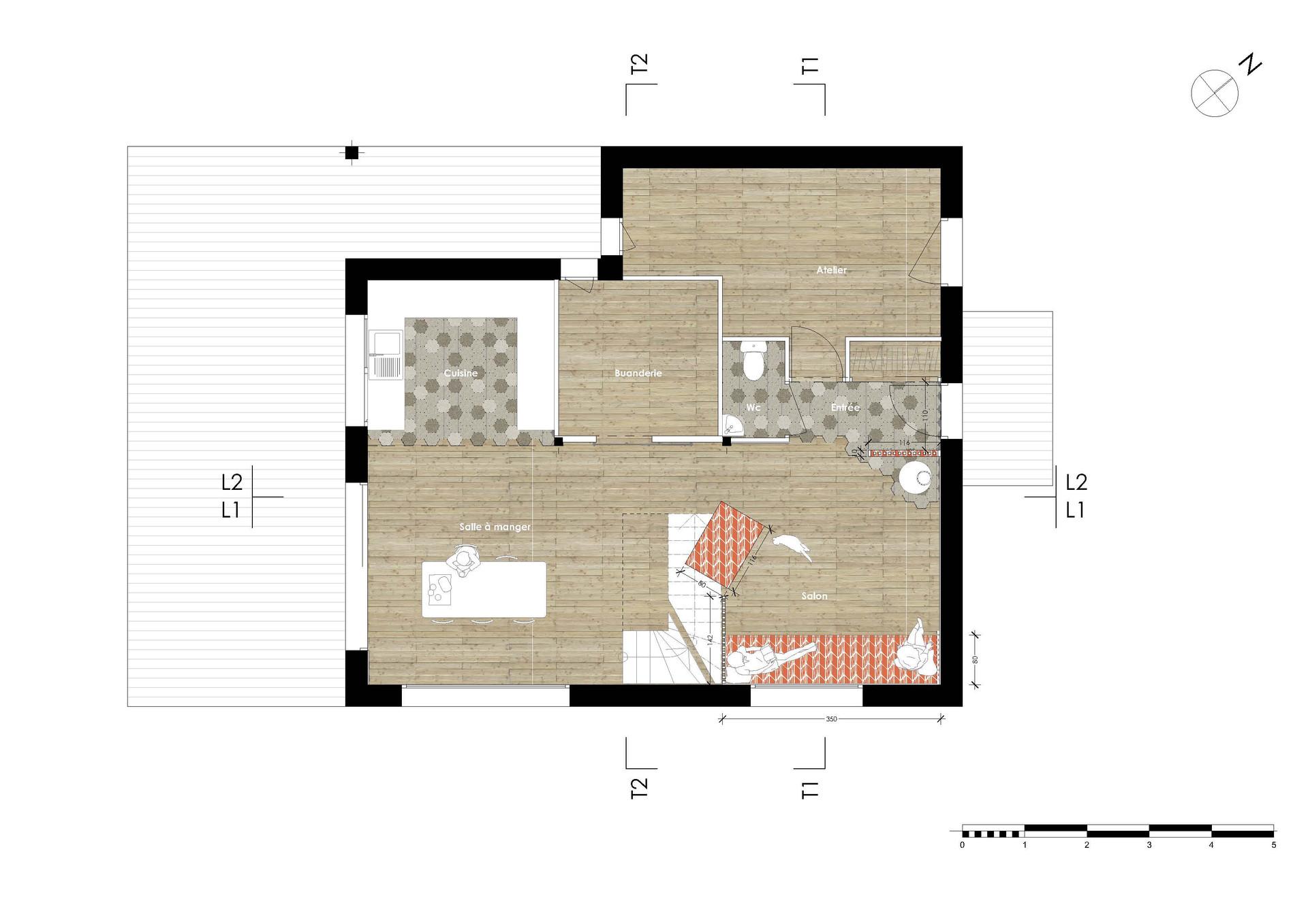 Hirundo-Architecture_Projet B&R_Plan RDC