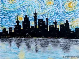 Starry Night Skyline
