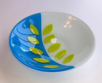 Cornflower Blue with Leafy Greens