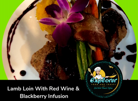 Lamb Loin With Red Wine & Blackberry Infusion