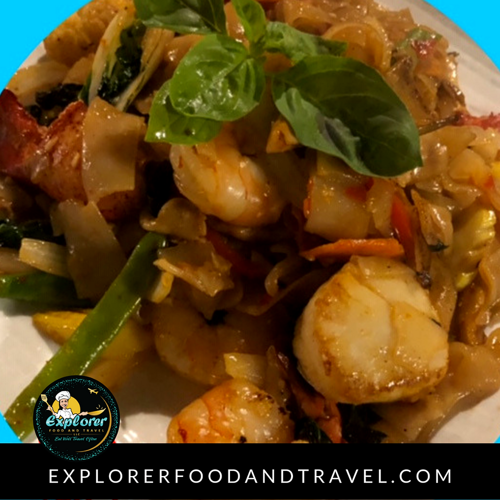 Seafood Dish Made with Explorer Pad Thai Sauce