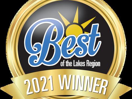 Winner of 2021 Best of the Lakes Region