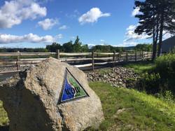 Trail entrance Belmont-Laconia town line