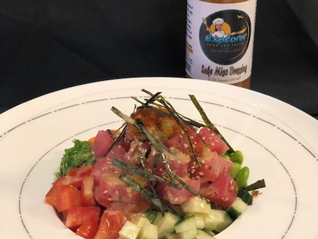 Explorer Poke' Bowl - Tuna Bowl Over Salad