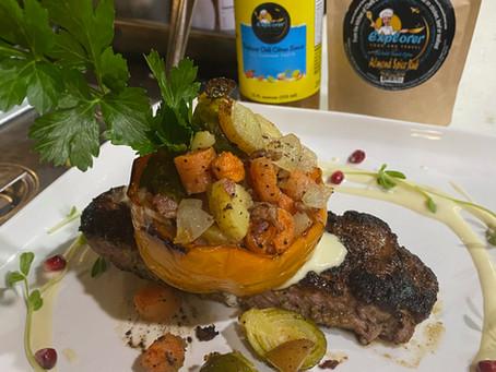 Pan Seared Lamb Loin with Chili Citrus Sauce - YUM!