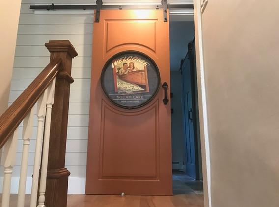 Upstairs Barn Door Slider-Hallway-Vanity