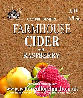 raspberry cider label