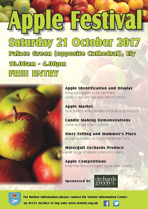 Ely apple day flyer poster