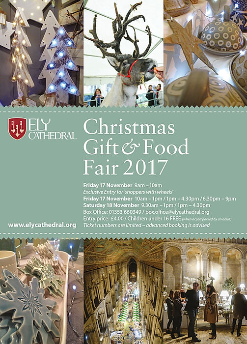 ely cathedral xmas gift and food fair flyer
