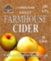 sweet cider label