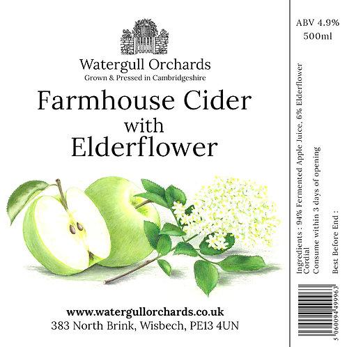 50cl Farmhouse Cider with Elderflower (5.6%)