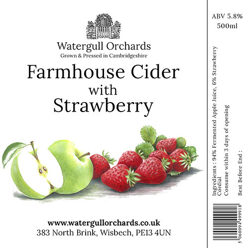 50cl Farmhouse Cider with Strawberry (5.8%)