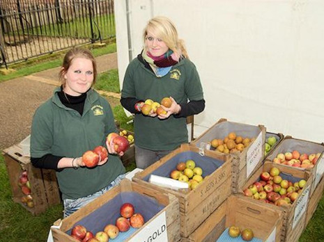 Jess and Lucie at Ely Apple Day many years ago!!!