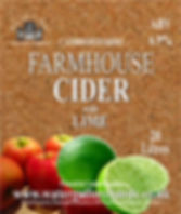 lime cider label