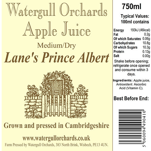 Medium/Dry Lane's Prince Albert 75cl