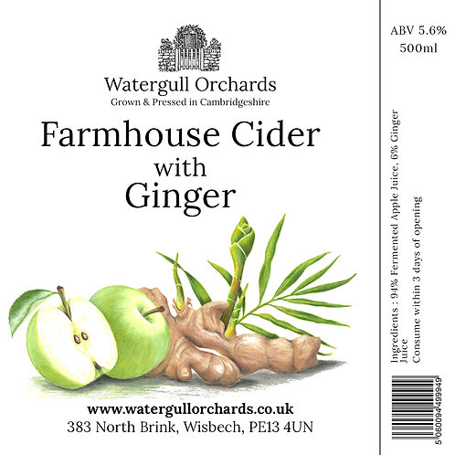 50cl Farmhouse Cider with Ginger (5.6%)