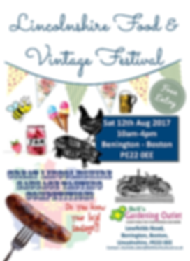 food & vintage flyer
