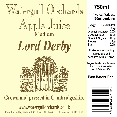 Medium Lord Derby 75cl