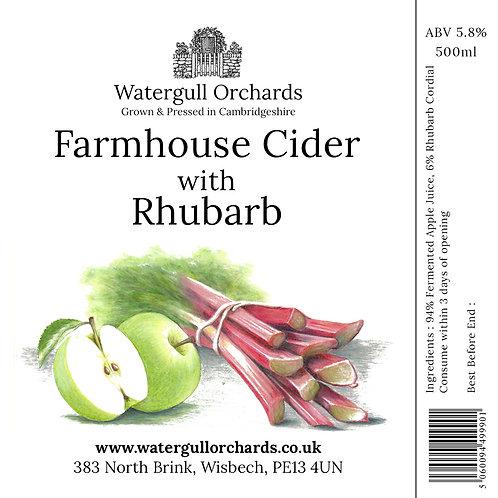 50cl Farmhouse Cider with Rhubarb (5.8%)
