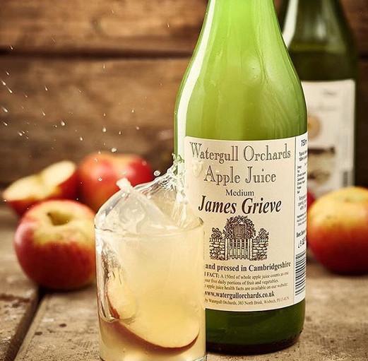 A beautiful shot of our James Grieve juice
