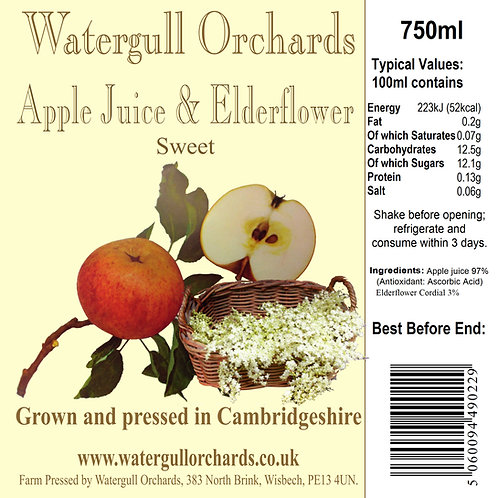 Sweet Apple & Elderflower 75cl