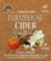elderflower cider label