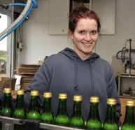 Jess running the pasteurising line a few years ago