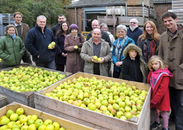 Visitors at an open day at Watergull Orchards which allows members of the public to come and see what goes on down here on a production day.