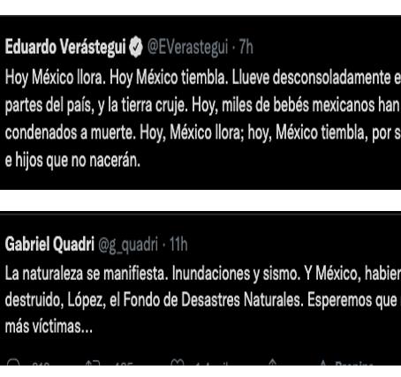 Ellos encuentran culpables por el sismo en México