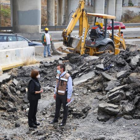 Arrancan reconstrucción de puente dañado por Hanna