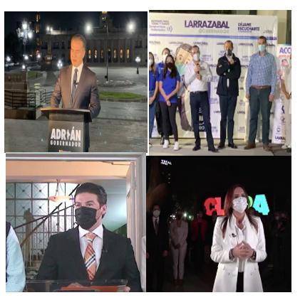 Arrancan con acusaciones, indirectas  y advertencias  candidatos al GNL
