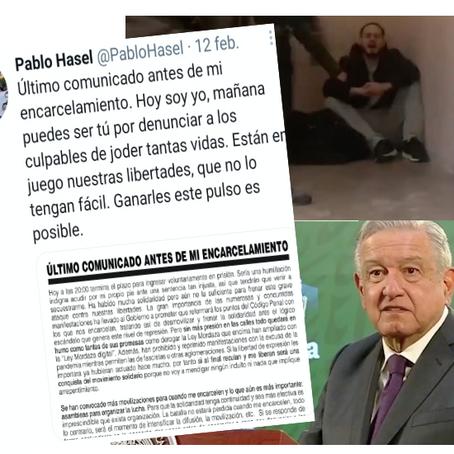 Revueltas en España por encarcelamiento de Hasél; AMLO pide  que lo saquen
