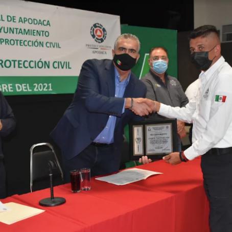 Aumento salarial a elementos de Protección Civil de Apodaca