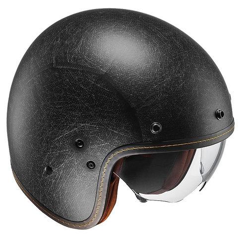HJC FG-70s Openface Helmets Vintage Flat Black