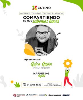 Conferencia: Marketing Digital para Emprendedores en CAFFENIO