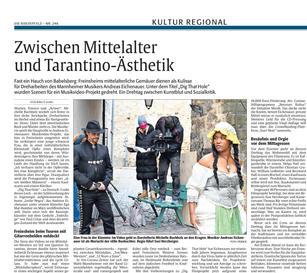 Shooting of Dig That Hole Report Rheinpfalz