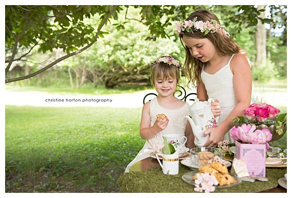 Tea Party Photo Shoot {sisters}, Pennsylvania photographer
