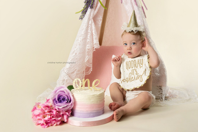 HOORAY IT'S CAKE DAY  - 1ST BIRTHDAY SESSION - PA PHOTOGRAPHER
