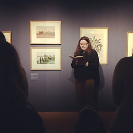 Bebe reading at Ulster Museum