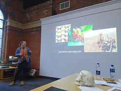Bebe Ashley presenting at the Northern Ireland Science Festival