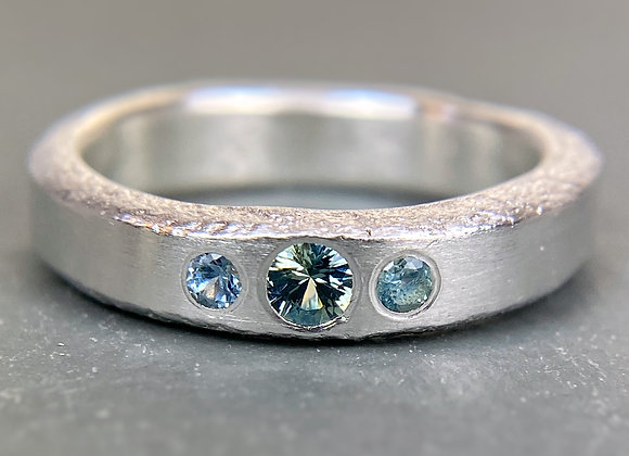 Sapphire Trio Tufa Ring