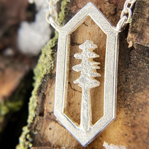 Geometric Tree Necklace