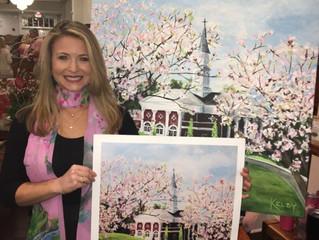 """Kelby's """"Wesleyan College Chapel"""" Painting is Award Winning!"""