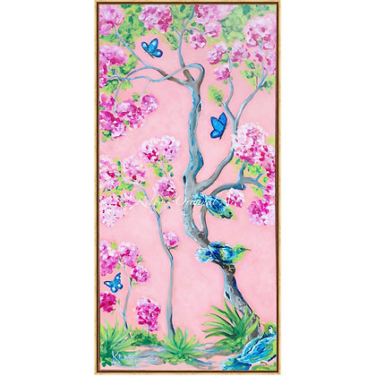 Cherry Blossom Chinoiserie Panel I