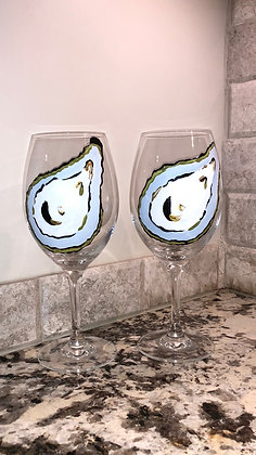 Everyday Oyster Wine Glass pair II