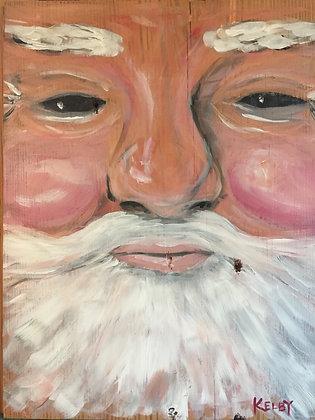 Heart Pine Santa
