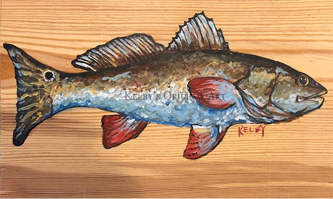 Red Fish on Pine